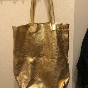 BAGGU Bags - Baggu Leather Tote - Gold